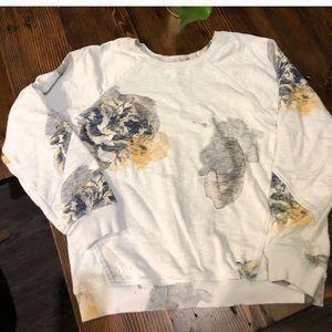Zara Trafaluc floral sweatshirt